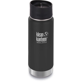 Klean Kanteen Wide Vacuum Insulated Drinkfles Café Cap 2.0 473ml zwart